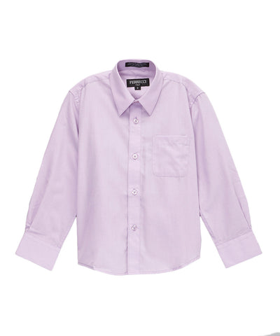 Boys Premium Cotton Blend Light Colored Dress Shirts