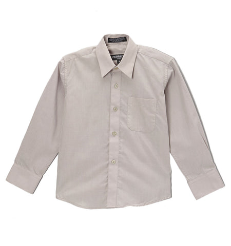 Ferrecci Boys Cotton Blend Light Grey Dress Shirt