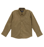Ferrecci Boys Cotton Blend Olive Dress Shirt - FHYINC best men's suits, tuxedos, formal men's wear wholesale