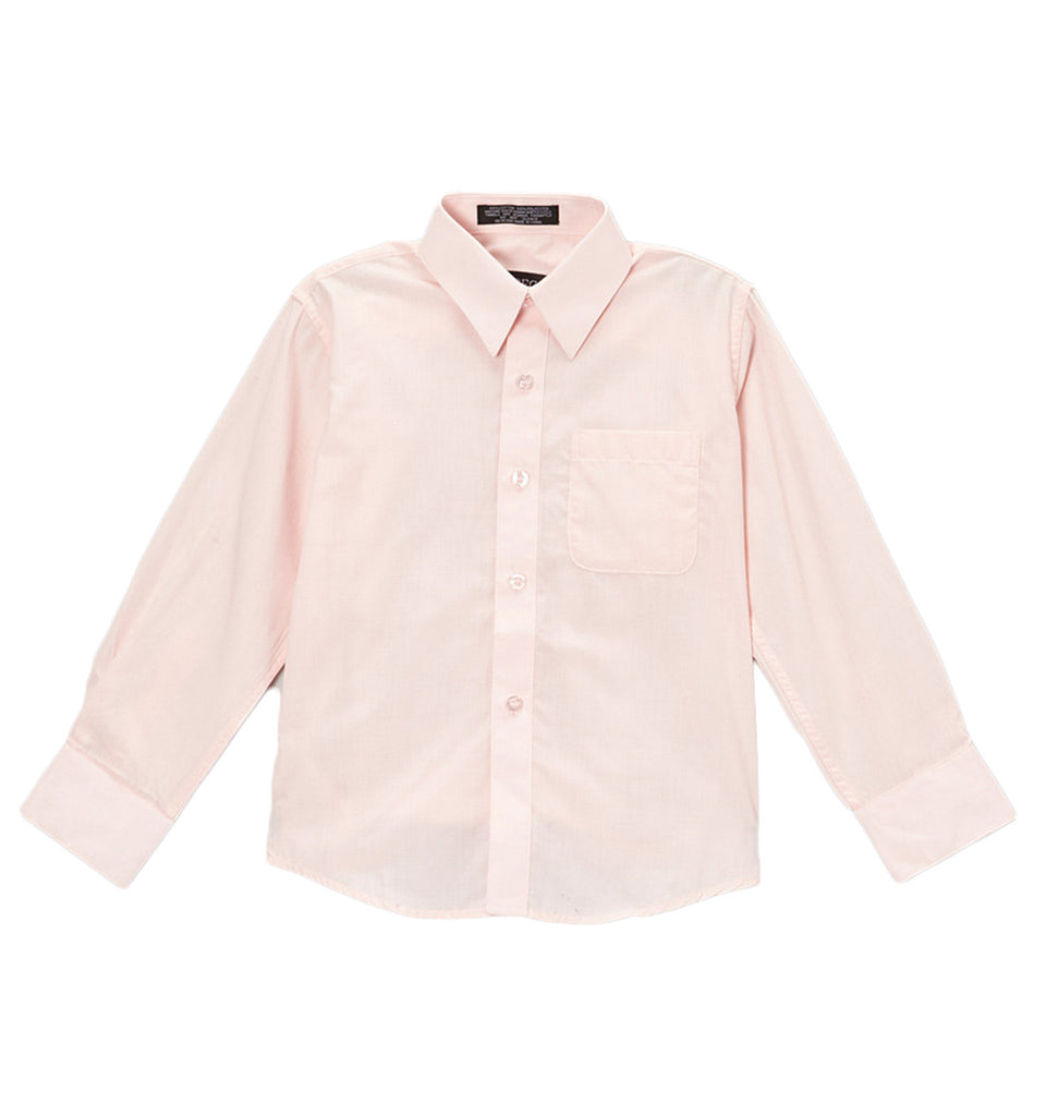 Ferrecci Boys Cotton Blend Light Pink Dress Shirt - FHYINC best men