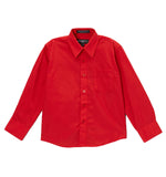 Ferrecci Boys Cotton Blend Red Dress Shirt - FHYINC best men's suits, tuxedos, formal men's wear wholesale