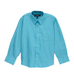 Ferrecci Boys Cotton Blend Turquoise Dress Shirt - FHYINC best men's suits, tuxedos, formal men's wear wholesale