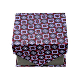 Men's Purple Squared Pattern Design 4-pc Necktie Box Set - FHYINC best men's suits, tuxedos, formal men's wear wholesale