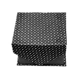 Men's Black Geometric Stripe Pattern Design 4-pc Necktie Box Set - FHYINC best men's suits, tuxedos, formal men's wear wholesale
