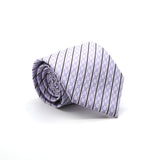 Ferrecci Mens Purple Striped Necktie with Handkerchief Set - FHYINC best men's suits, tuxedos, formal men's wear wholesale