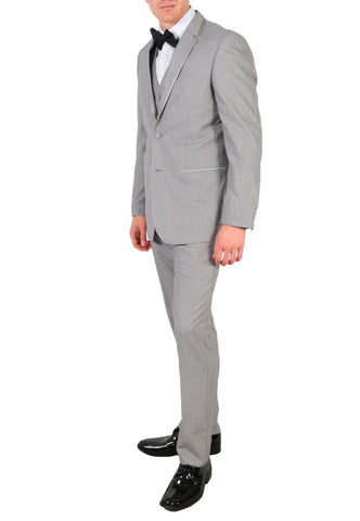 Celio Tux Premium Men's Slim Fit 3 pc Tuxedo Grey