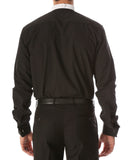 Black Mandarin Collar Clergy Shirt with FULL CIRCLE TAB - FHYINC best men's suits, tuxedos, formal men's wear wholesale