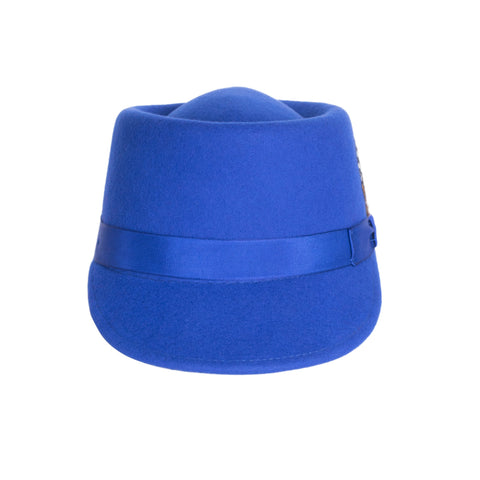 Modern Conductor Train Engineer Hat - Royal Blue