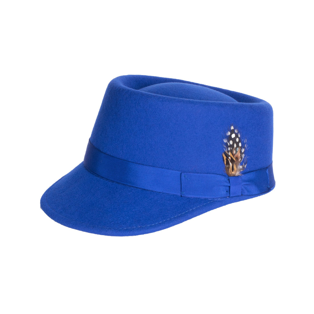 Modern Conductor Train Engineer Hat - Royal Blue - FHYINC best men