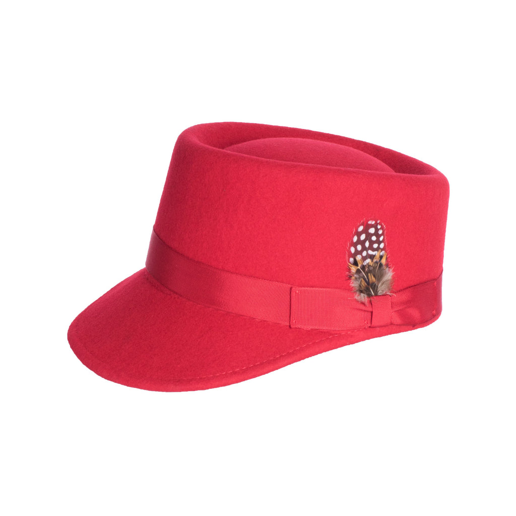 Modern Conductor Train Engineer Hat - Red - FHYINC best men