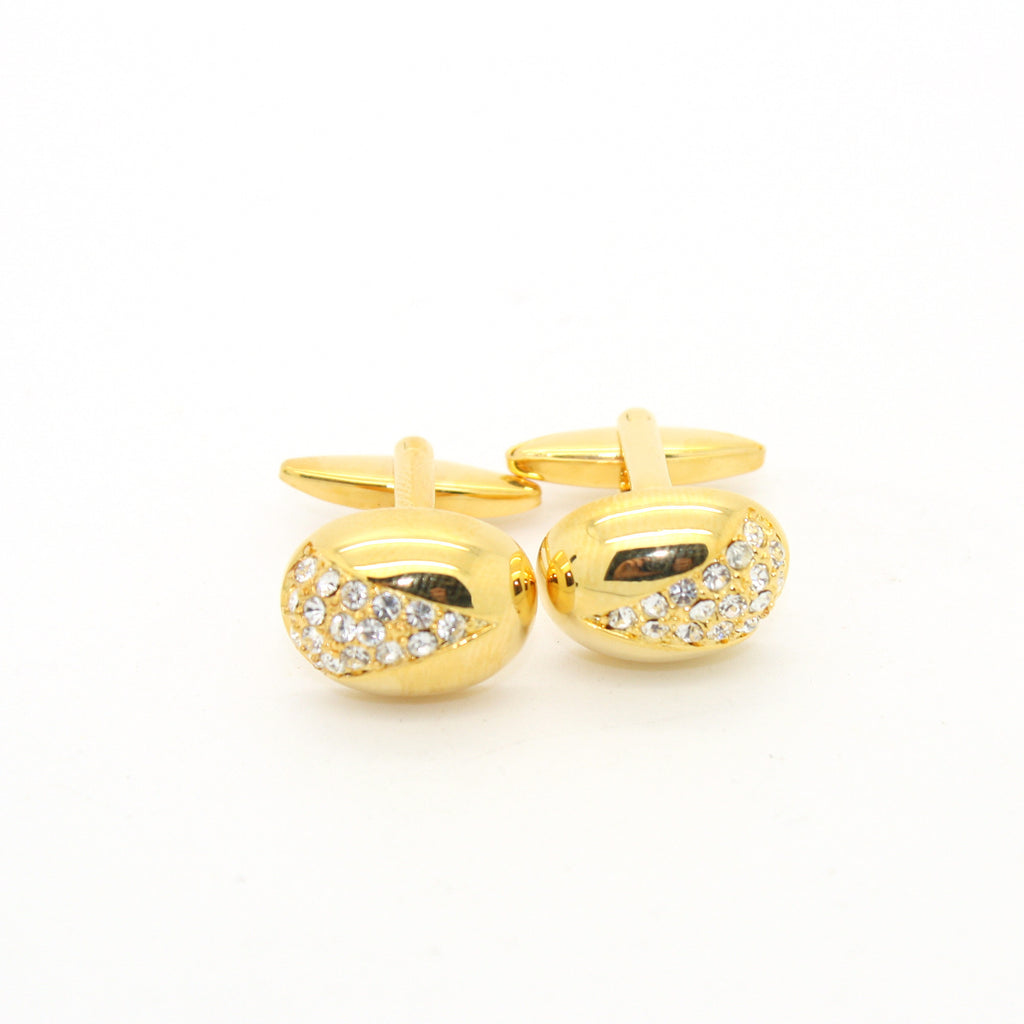 Goldtone Gemstone Cuff Links With Jewelry Box - FHYINC best men