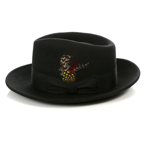 Crushable Fedora Hat in Black