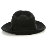Crushable Fedora Hat in Black - FHYINC best men's suits, tuxedos, formal men's wear wholesale