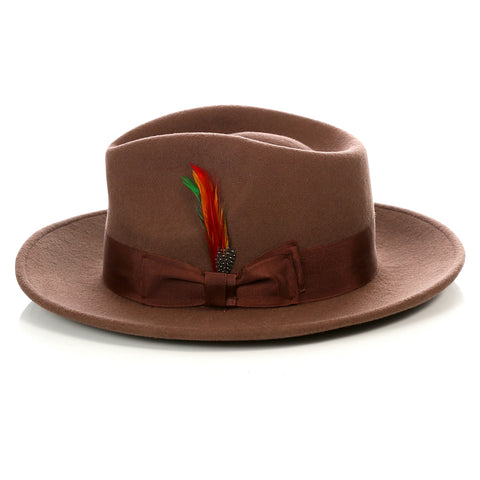 Crushable Brown Fedora Hat
