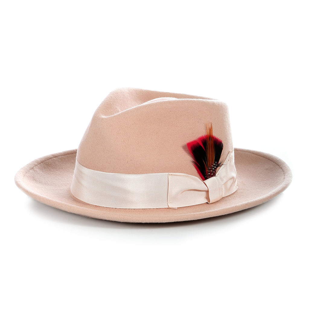 Crushable Fedora Hat in Camel - FHYINC best men