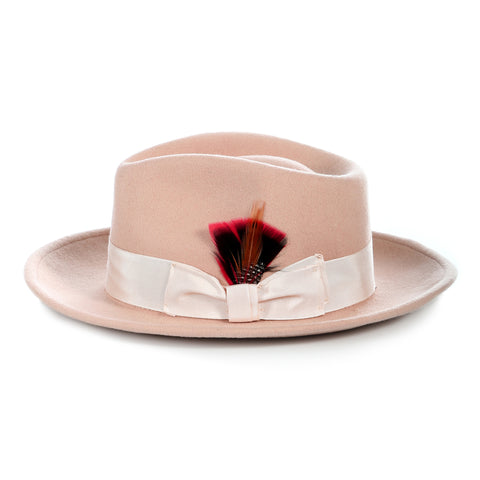 Crushable Fedora Hat in Camel