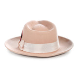 Crushable Fedora Hat in Camel - FHYINC best men's suits, tuxedos, formal men's wear wholesale