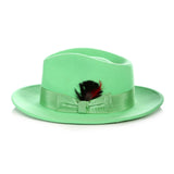 Crushable Fedora Hat in Green - FHYINC best men's suits, tuxedos, formal men's wear wholesale