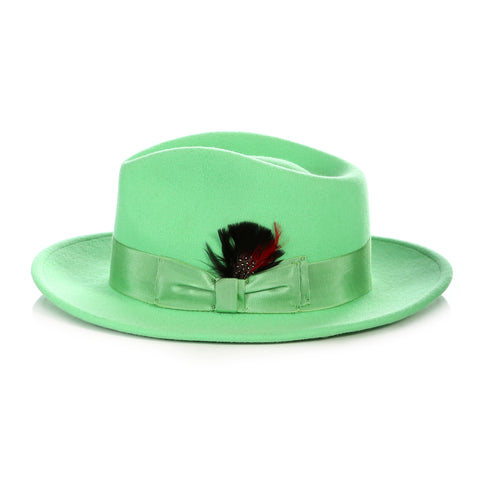 Crushable Fedora Hat in Green