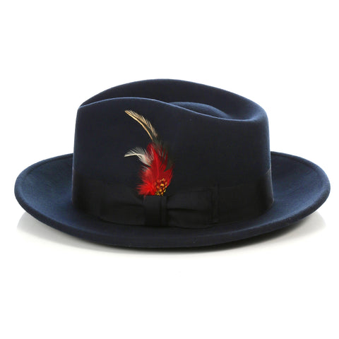 Crushable Fedora Hat in Navy