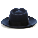 Crushable Fedora Hat in Navy - FHYINC best men's suits, tuxedos, formal men's wear wholesale