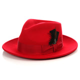 Crushable Red Fedora Hat - FHYINC best men's suits, tuxedos, formal men's wear wholesale