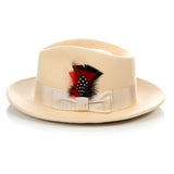 Crushable Tan Fedora Hat - FHYINC best men's suits, tuxedos, formal men's wear wholesale