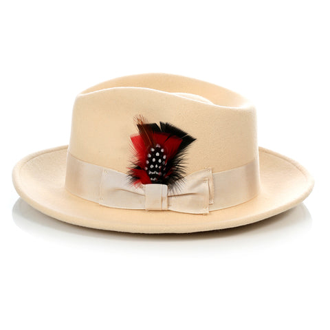 Crushable Tan Fedora Hat