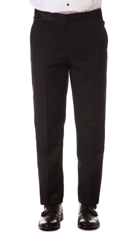 CROMWELL Slim Fit Black Tuxedo Dress Pants