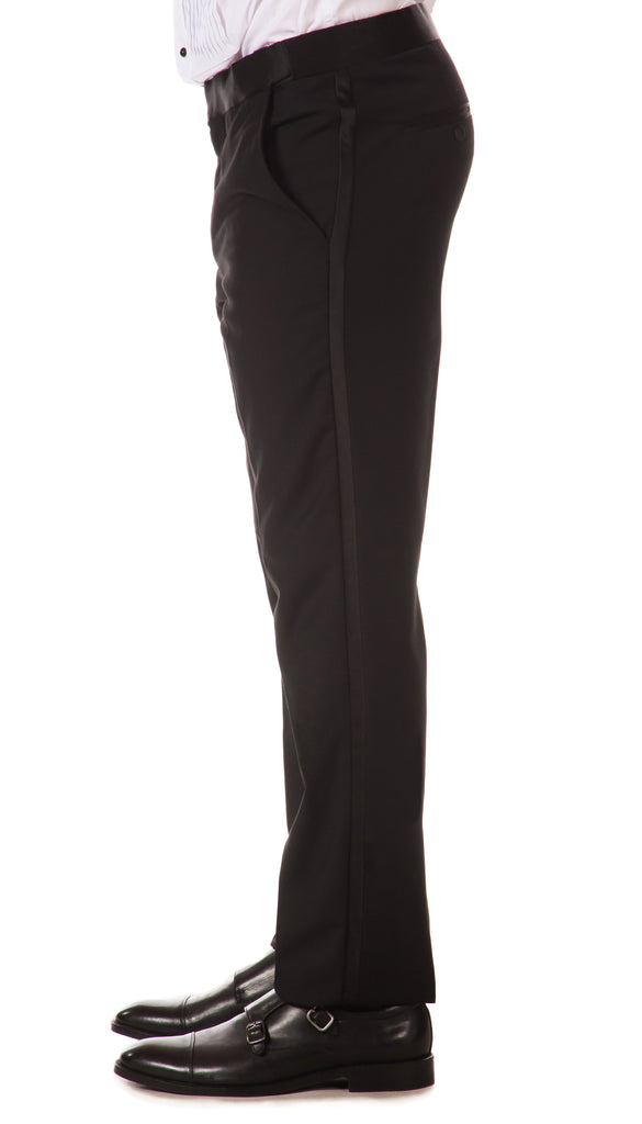 CROMWELL Slim Fit Black Tuxedo Dress Pants - FHYINC best men