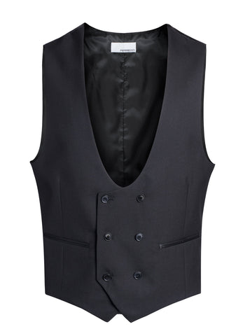 Cruz Mens Double Breasted Black Vest