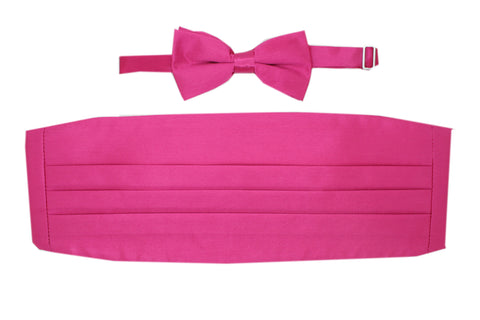 Satine Teal Bow Tie & Cummerbund Set