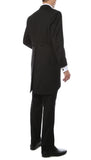 Mens Black Cutaway Regular Fit Tuxedo 2pc Suit - FHYINC