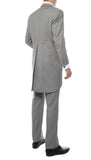 Mens Grey Cutaway Regular Fit Tuxedo 2pc Suit - FHYINC