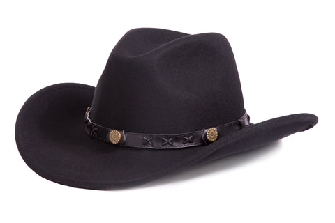 Unisex Mens & Womens Crushable Wool Western Dakota Cowboy Hat