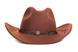 Unisex Mens & Womens Crushable Wool Western Cowboy Hat - FHYINC best men's suits, tuxedos, formal men's wear wholesale