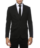 Daytona Black Stretch Slim Fit Blazer - FHYINC best men's suits, tuxedos, formal men's wear wholesale