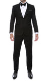 Debonair Black Slim Fit Peak Lapel Tuxedo - FHYINC