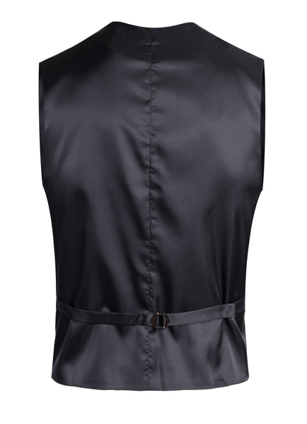 Drapper Mens 5 Button Black Vest - FHYINC best men's suits, tuxedos, formal men's wear wholesale