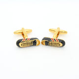 Goldtone Shoe Cuff Links With Jewelry Box - FHYINC best men's suits, tuxedos, formal men's wear wholesale