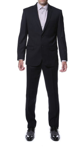 Ernesto Black Pinstripe Slim Fit 2pc Suit
