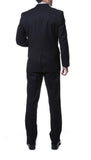 Ernesto Black Pinstripe Slim Fit 2pc Suit - FHYINC best men's suits, tuxedos, formal men's wear wholesale