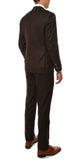 Etro Mens Brown Pinstripe Slim Fit Notch Lapel 2pc Suit - FHYINC best men's suits, tuxedos, formal men's wear wholesale