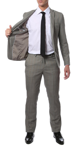 Etro Grey Glen Plaid Slim Fit 2pc Suit