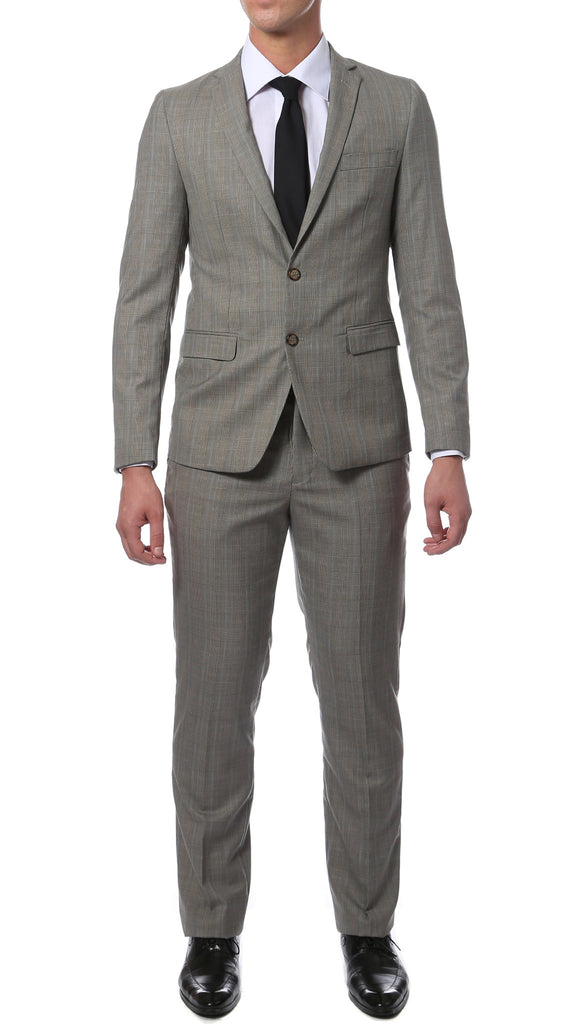 Etro Grey Glen Plaid Slim Fit 2pc Suit - FHYINC best men