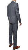 Etro Mens Grey Blue Slim Fit Notch Lapel 2pc Suit - FHYINC best men's suits, tuxedos, formal men's wear wholesale