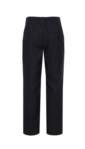 Ezra Black Regular Fit Boys Dress Pants