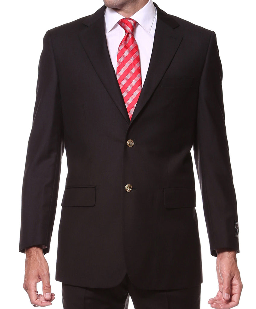 Black Gold Button Regular Fit Blazer - FHYINC best men