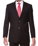 Black Gold Button Regular Fit Blazer - FHYINC best men's suits, tuxedos, formal men's wear wholesale