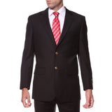 Black Regular Fit Mens Gold Button Blazer - FHYINC best men's suits, tuxedos, formal men's wear wholesale